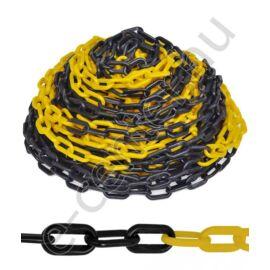 Jelzőlánc sárga-fekete 50 m-es csomag