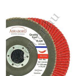Lamellás csiszoló rozsdamentes 125 K40 kerámia Abraboro
