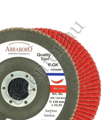 Lamellás csiszoló kerámiaszemcsével 125mm K60 Abraboro