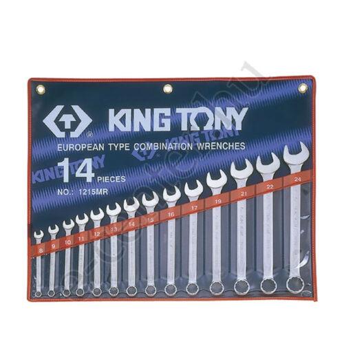 Csillag-villáskulcs készlet  8-24 King Tony 1215MR