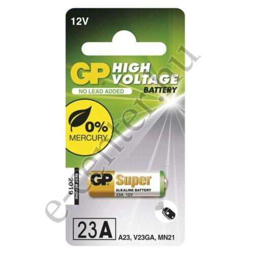 Elem GP super alkáli 12V LR23 23A MN21 C/5 riasztó távirányítóhoz