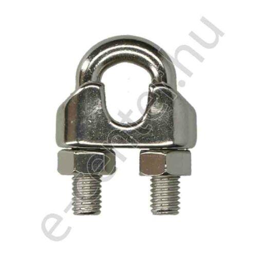 Rozsdamentes drótkötélszorító bilincs 8 mm